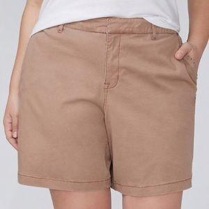 Lane Bryant khaki girlfriend shorts NWT